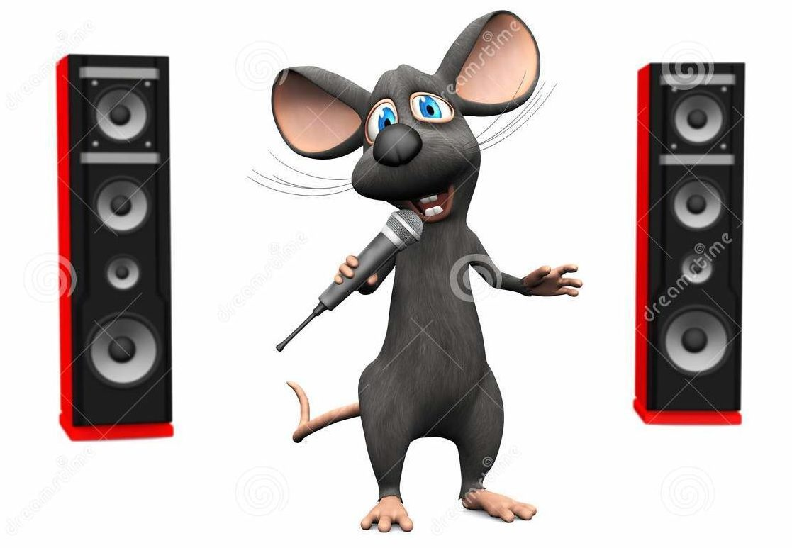 cartoon-mouse-singing-microphone-big-speakers-cute-smiling-holding-his-hand-there-two-red-back-white-50164385-1